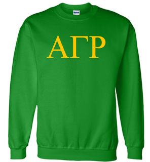 Alpha Gamma Rho Lettered World Famous Greek Crewneck