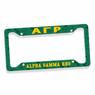Alpha Gamma Rho License Plate Frame