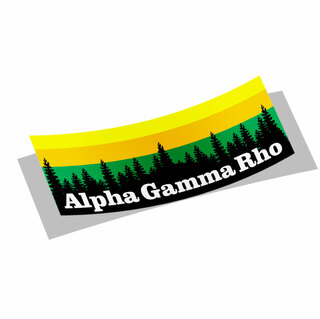 Alpha Gamma Rho Mountain Decal Sticker