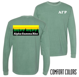 Alpha Gamma Rho Outdoor Long Sleeve T-shirt - Comfort Colors