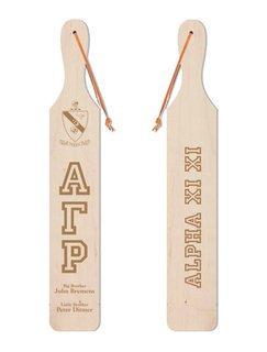 Alpha Gamma Rho Old School Wood Greek Paddle