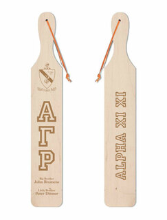 Alpha Gamma Rho Old School Wood Greek Paddle