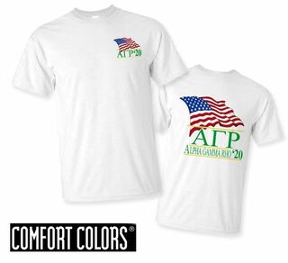 Alpha Gamma Rho Patriot  Limited Edition Tee - Comfort Colors