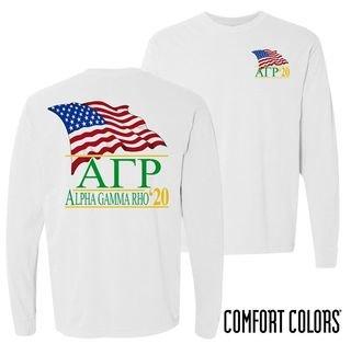 Alpha Gamma Rho Patriot Long Sleeve T-shirt - Comfort Colors