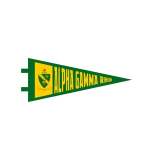 "Alpha Gamma Rho Pennant Decal 4"" Wide"