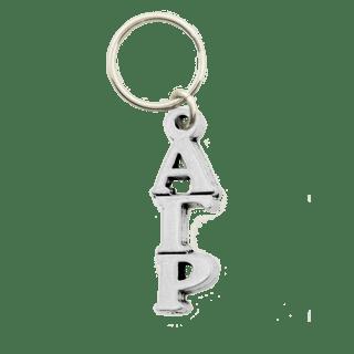 Alpha Gamma Rho Pewter Letter Key Ring