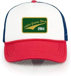 Alpha Gamma Rho Red, White & Blue Trucker Hat