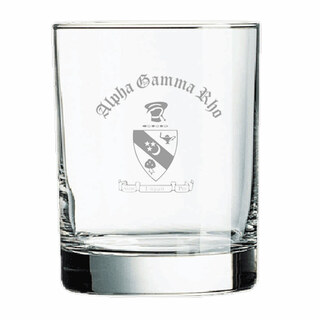 Alpha Gamma Rho Old Style Glass