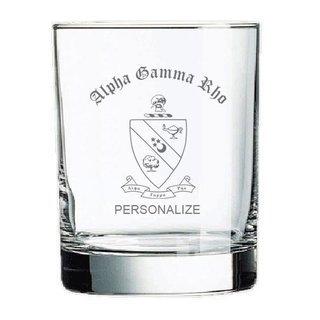 Alpha Gamma Rho Old Style Glass