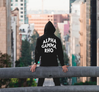 Alpha Gamma Rho Social Hooded Sweatshirt