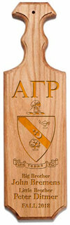 Alpha Gamma Rho Traditional Greek Paddle