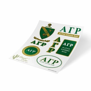 Alpha Gamma Rho Traditional Sticker Sheet