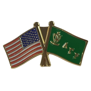 Alpha Gamma Rho USA Flag Lapel Pin