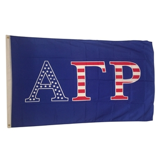 Alpha Gamma Rho USA Greek Letter Flag