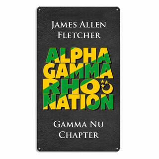 Alpha Gamma Rho Vintage Metal Wall Sign