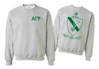 Alpha Gamma Rho World Famous Crest - Shield Crewneck Sweatshirt- $25!