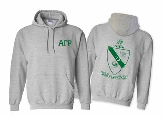 Alpha Gamma Rho World Famous Crest - Shield Hooded Sweatshirt- $35!