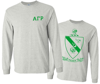 Alpha Gamma Rho World Famous Crest Long Sleeve T-Shirt- $19.95!