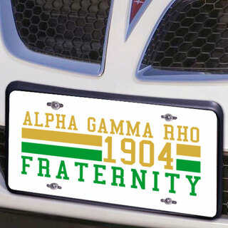 Alpha Gamma Rho Year License Plate Cover