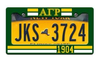 Alpha Gamma Rho Year License Plate Frame
