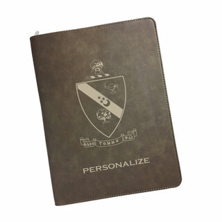 Alpha Gamma Rho Zipper Leatherette Portfolio with Notepad