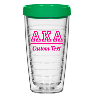 Alpha Kappa Alpha 16oz. Double Wall Tumbler