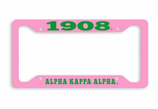 Alpha Kappa Alpha 1908 Metal License Plate Frame
