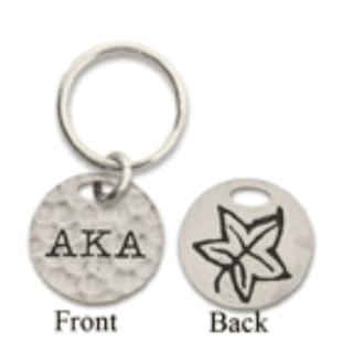 Alpha Kappa Alpha 2-Sided Key Ring