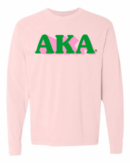 Alpha Kappa Alpha 3 D Greek Long Sleeve T-Shirt - Comfort Colors