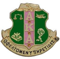 Alpha Kappa Alpha 3D Color Shield Pins