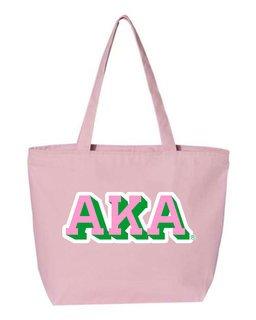 Alpha Kappa Alpha 3D Letter Tote Bag