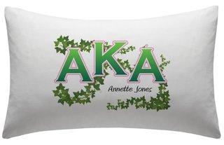 Alpha Kappa Alpha pillowcases