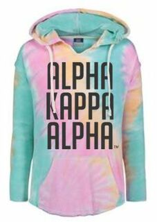 Alpha Kappa Alpha Angel Terry Rainbow Sherbet Nora Pullover
