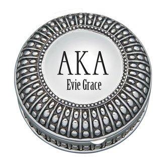 Alpha Kappa Alpha Antique Beaded Pin Box