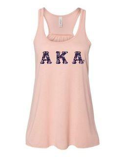 Alpha Kappa Alpha Bella + Canvas - Women's Flowy Racerback Tank