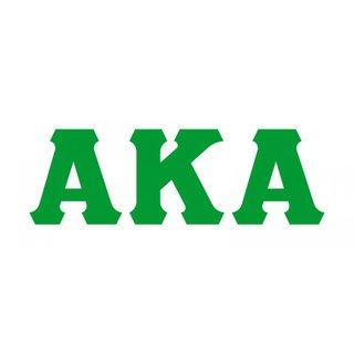 Alpha Kappa Alpha Big Greek Letter Window Sticker Decal