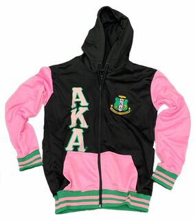 Alpha Kappa Alpha Black & Pink Hooded Jacket