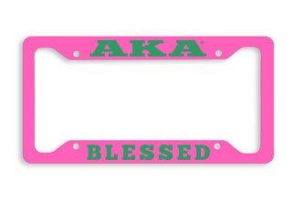 Alpha Kappa Alpha Blessed Metal License Plate Frame