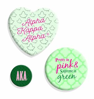 Alpha Kappa Alpha Button Set