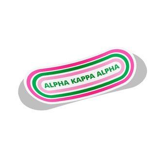 Alpha Kappa Alpha Capsule Decal Sticker