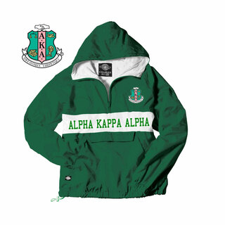 Alpha Kappa Alpha Charles River Custom Stripe Greek Pullover Anorak