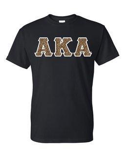 Alpha Kappa Alpha Cheetah Print Lettered Tee