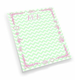 BULK DEAL - Alpha Kappa Alpha Chevron Notepad (Set of 10)