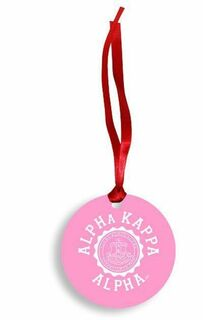 Alpha Kappa Alpha Christmas Crest - Shield Aluminum Ornament