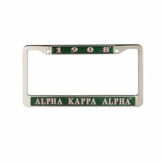 Alpha Kappa Alpha Metal License Plate Frame - 1908
