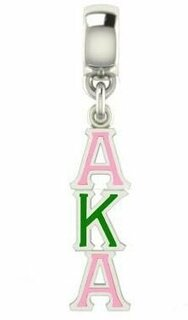 Alpha Kappa Alpha Color Filled Stainless Lavaliere Necklace - FREE GROUND SHIPPING