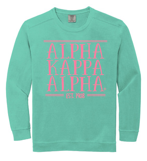 Alpha Kappa Alpha Comfort Colors Established Crewneck Sweatshirt