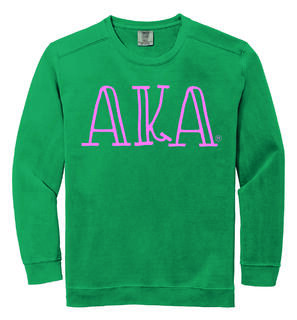 Alpha Kappa Alpha Comfort Colors Greek Crewneck Sweatshirt