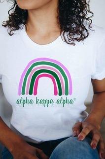 Alpha Kappa Alpha Comfort Colors Rainbow Tee