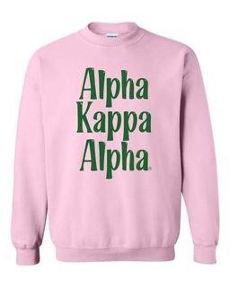Alpha Kappa Alpha Comfort Colors Rosie Crew
